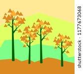 vector illustratiom geometric... | Shutterstock .eps vector #1177673068
