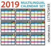calendar 2019 set   english ...   Shutterstock .eps vector #1177673455