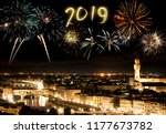 new year's eve in florence ... | Shutterstock . vector #1177673782