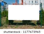 blank advertising banner... | Shutterstock . vector #1177673965