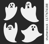 four ghosts. set of vector... | Shutterstock .eps vector #1177676188