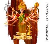 happu durga puja festival india ...   Shutterstock .eps vector #1177678738