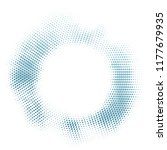 blue halftone grunge ring... | Shutterstock .eps vector #1177679935