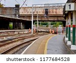 british rail workers fixing the ... | Shutterstock . vector #1177684528