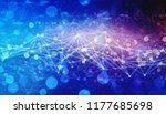 triangular tech background with ... | Shutterstock . vector #1177685698