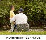 grandpa and grandson enjoying... | Shutterstock . vector #11776906