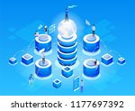 concept of data network... | Shutterstock .eps vector #1177697392