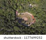 dead volcano famous public park ... | Shutterstock . vector #1177699252