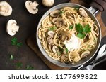 Mushroom Spaghetti Pasta And...