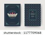 christmas greeting card design... | Shutterstock .eps vector #1177709068