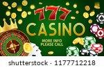 online casino gamble game...   Shutterstock .eps vector #1177712218
