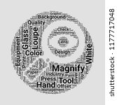 loupe word cloud. word cloud of ... | Shutterstock .eps vector #1177717048