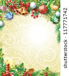 vintage christmas background | Shutterstock .eps vector #117771742