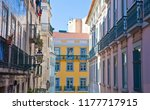 lisbon  portugal  the  colorful ... | Shutterstock . vector #1177717915