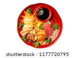 top view isolated plate of... | Shutterstock . vector #1177720795