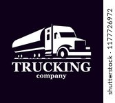 vector truck logo. emblem ... | Shutterstock .eps vector #1177726972