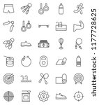 thin line vector icon set  ... | Shutterstock .eps vector #1177728625