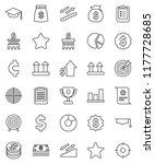 thin line vector icon set  ... | Shutterstock .eps vector #1177728685