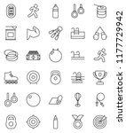 thin line vector icon set  ... | Shutterstock .eps vector #1177729942