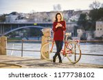 theme tourism on bicycle and... | Shutterstock . vector #1177738102