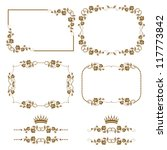 vector set of decorative... | Shutterstock .eps vector #117773842