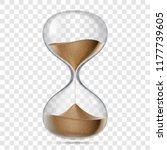 hourglass or sandglass vector... | Shutterstock .eps vector #1177739605