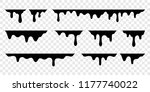 black melt drips or liquid... | Shutterstock .eps vector #1177740022