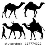 Camel Silhouette On White...