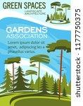 gardens association poster for... | Shutterstock .eps vector #1177750375