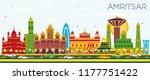 amritsar india city skyline... | Shutterstock .eps vector #1177751422