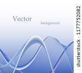 smooth blue lines on a blue... | Shutterstock .eps vector #1177752082