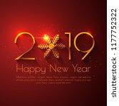 happy new year 2019 text design.... | Shutterstock .eps vector #1177752322