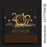 happy new year 2019   new year... | Shutterstock .eps vector #1177755628