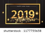 happy new year 2019   new year... | Shutterstock .eps vector #1177755658