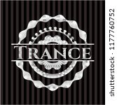 trance silvery badge or emblem   Shutterstock .eps vector #1177760752