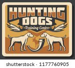 hunting club retro poster of... | Shutterstock .eps vector #1177760905