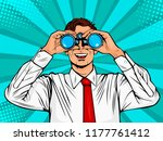 businessman looking through... | Shutterstock .eps vector #1177761412