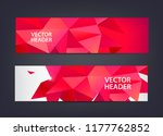 abstract polygonal  mosaic ... | Shutterstock .eps vector #1177762852
