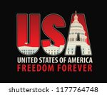 vector banner with letters usa... | Shutterstock .eps vector #1177764748