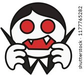 pictogram with vampire dracula... | Shutterstock .eps vector #1177765282