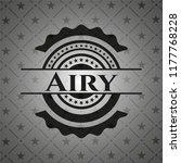 airy black emblem   Shutterstock .eps vector #1177768228