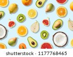 various vegetables and fruits... | Shutterstock . vector #1177768465