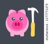 save money symbol savings... | Shutterstock .eps vector #1177771375
