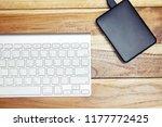 modern aluminum computer... | Shutterstock . vector #1177772425