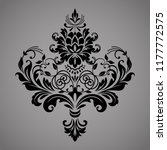damask graphic ornament. floral ... | Shutterstock .eps vector #1177772575