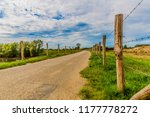 beautiful view of a road fenced ... | Shutterstock . vector #1177778272