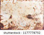 rusty white metal background ... | Shutterstock . vector #1177778752