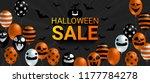halloween sale banner with... | Shutterstock .eps vector #1177784278