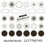 collection of hand drawn retro... | Shutterstock .eps vector #1177785745