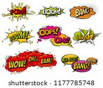 comic book sound effect speech... | Shutterstock .eps vector #1177785748